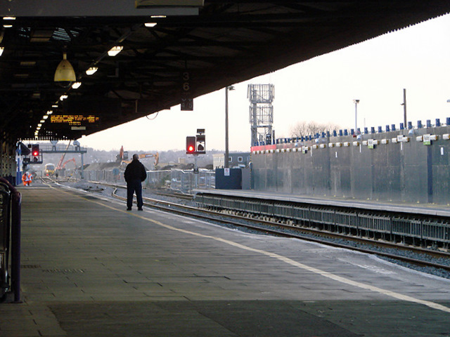 Waiting for the train at Reading