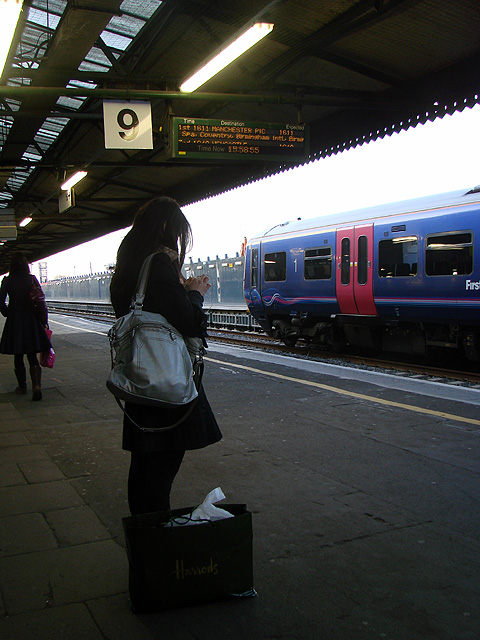 Waiting for the train at Reading Station
