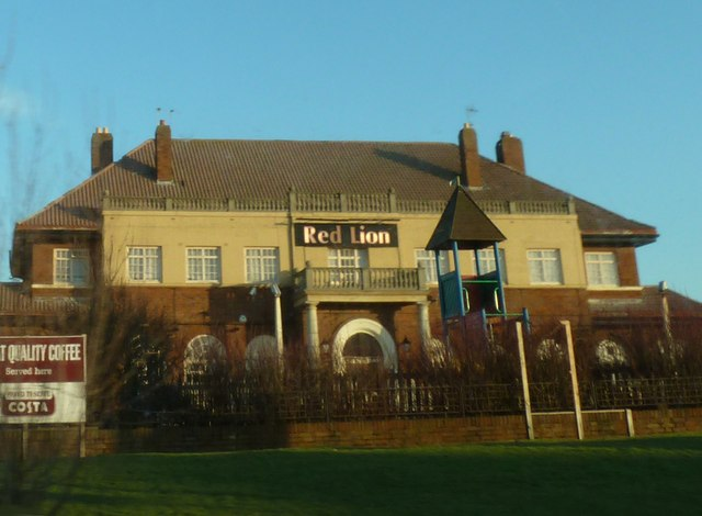 Red Lion Inn, viewed from Devonshire Road