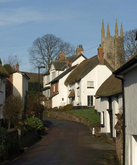 Village street, Sampford Courtenay