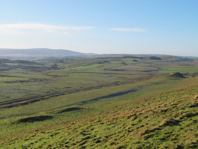 The Vallum and the Military Way south of Cawfields Crags