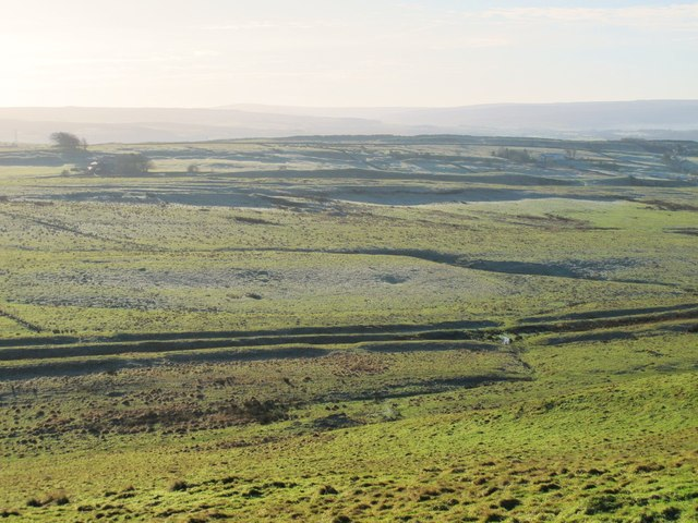 The Vallum and the Military Way west of Shield on the Wall