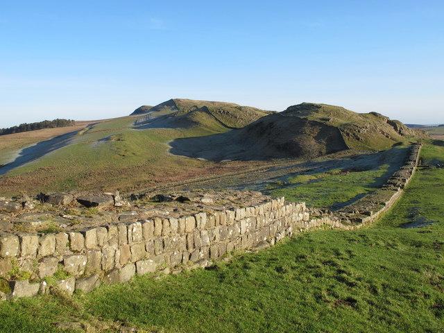 Hadrian's Wall around Caw Gap