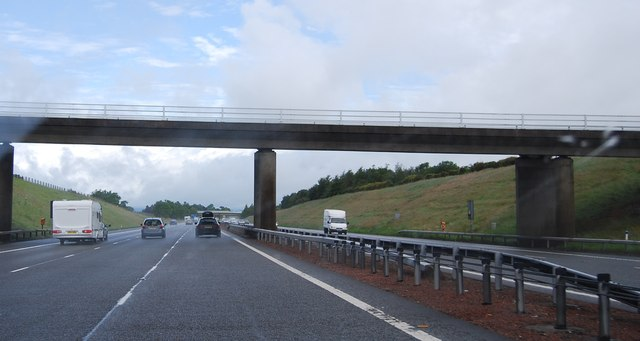 Bridge over the A74(M) near Blackford
