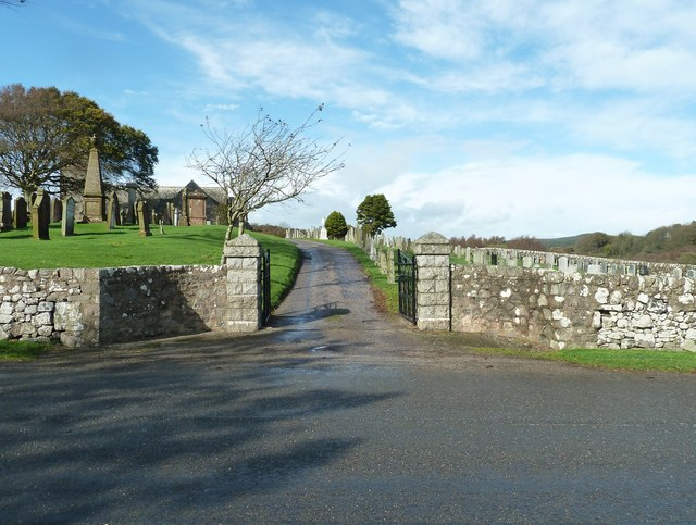Gateway into Colvend churchyard