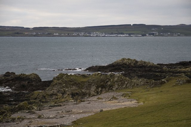 Looking across Loch Indaal to Port Charlotte, Islay