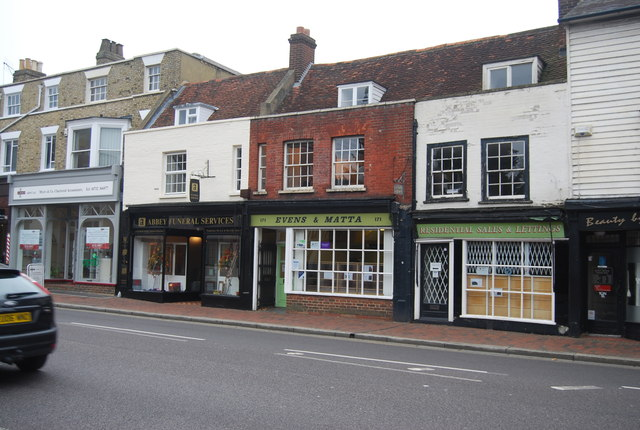 Row of shops, High St