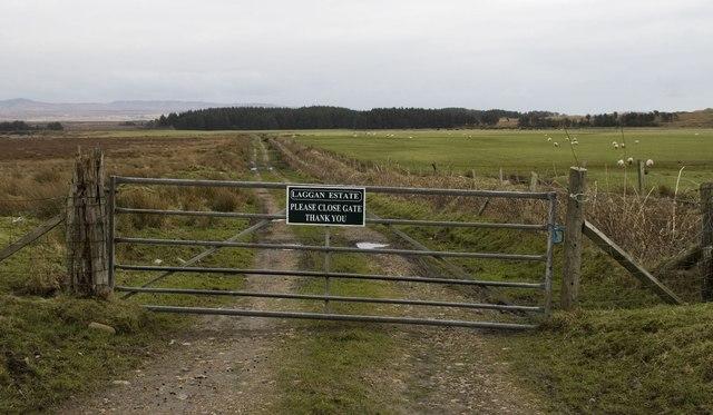 Gate on farmland, Laggan Estate, Islay