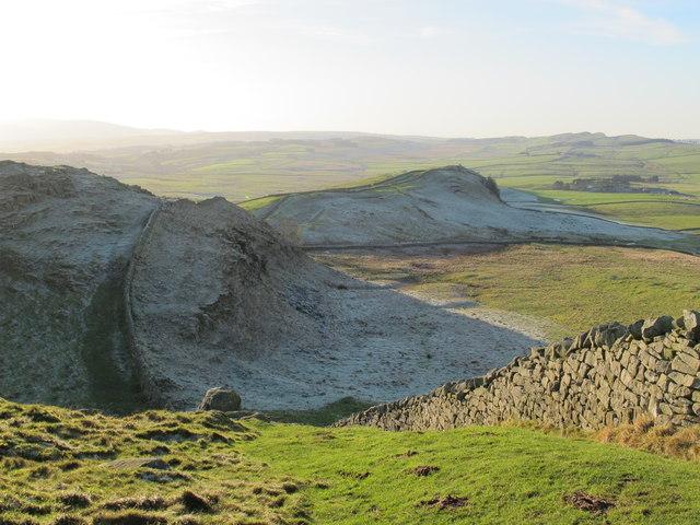 Hadrian's Wall at Bogle Hole