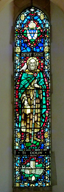 St David's Church (window), Llanddewi-Brefi, Ceredigion