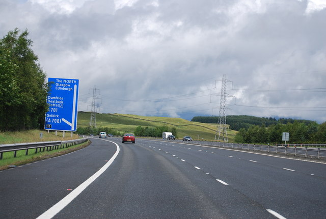 Approaching Junction 15, A74(M)