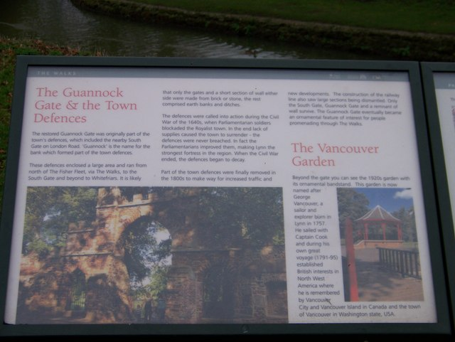 Information panel about the Guannock Gate