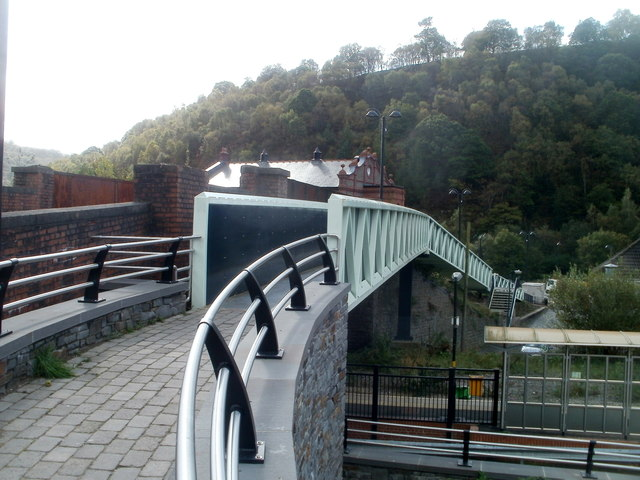 Railway footbridge, Llanhilleth