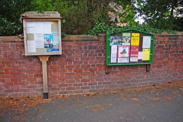Village noticeboards, Rectory Road, Donington