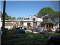 SJ8078 : Frozen Mop Mobberley garden area by Peter Turner