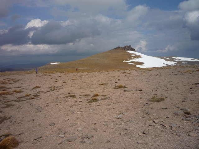 On the barren summit plateau of Ben Avon