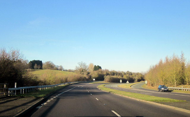 Droitwich A38 - Slip Road For A4133 to Ombersley