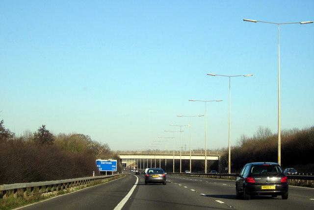 M5 Motorway Northbound - Swan Lane Bridge, Upton Warren