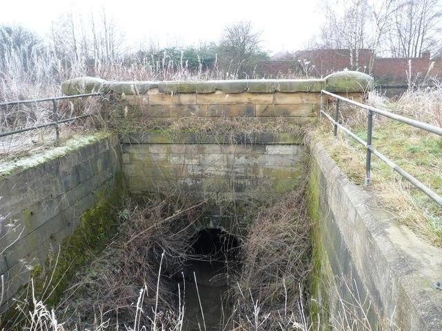 Canal infrastructure near Rodhill Corner