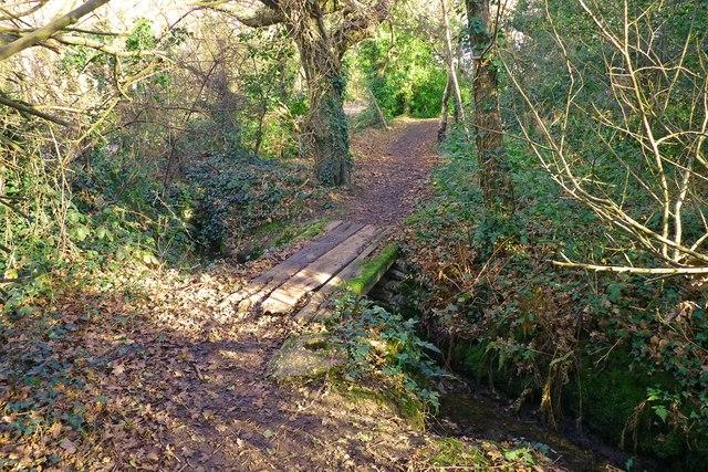 Wooden Footbridge at Barton Common