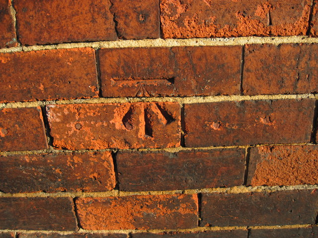 Ordnance Survey Cut Mark on wall of 1 Laurel Place, Armley