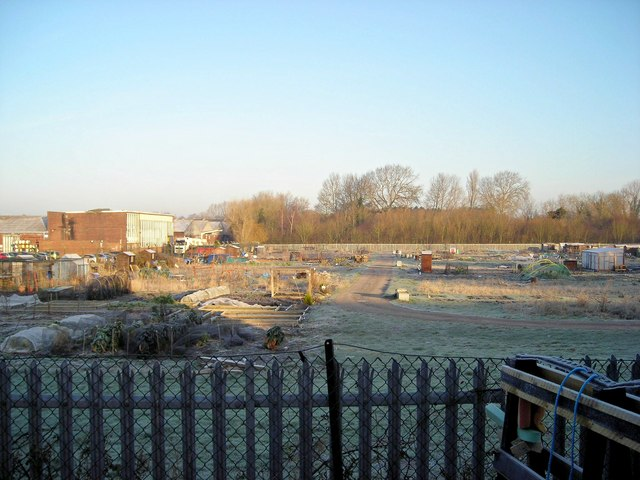 Industry and allotments from Kiln Lane