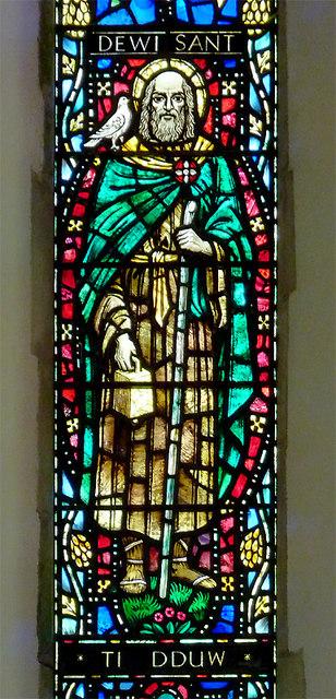 St David's Church window (detail), Llanddewi-Brefi, Ceredigion