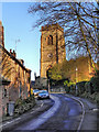 SJ7586 : Church Brow and St Mary's Church, Bowdon by David Dixon