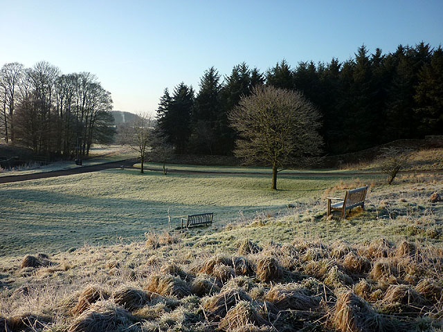 A frosty village green, Melmerby