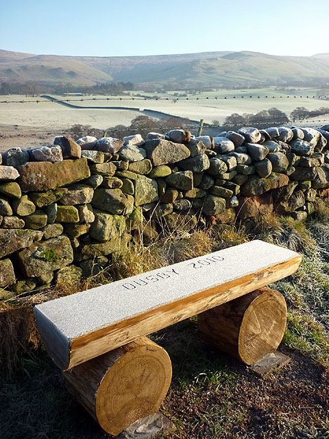 'Ousby 2010' wooden bench