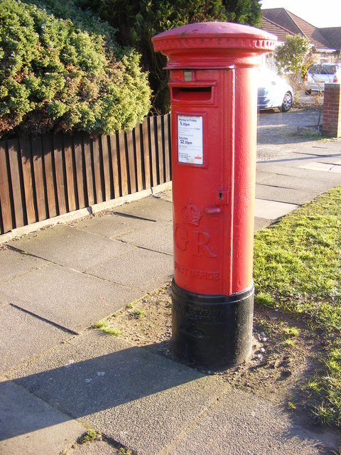 65 Bixley Road George V Postbox