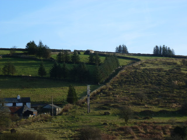 The moor and field boundaries at Hillside, Merrivale