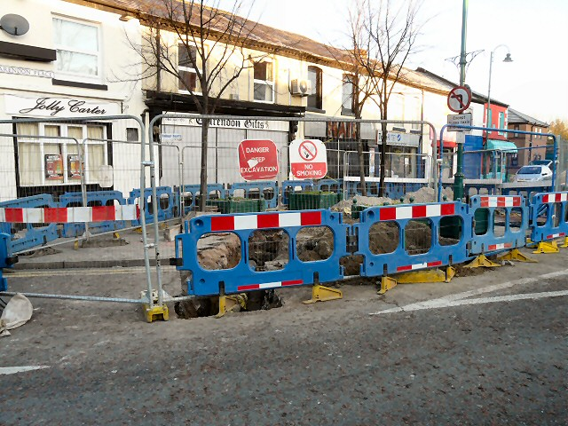 Roadworks on Clarendon Place