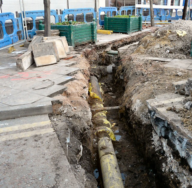 Pipes in a trench