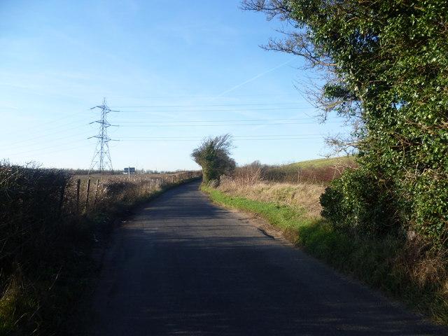 Looking up Crockenhill Lane