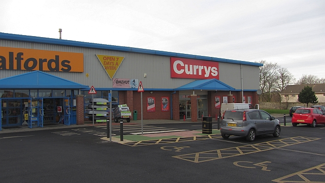 Retail park off Northumberland Road