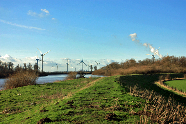 Trans Pennine Trail and the river Ouse