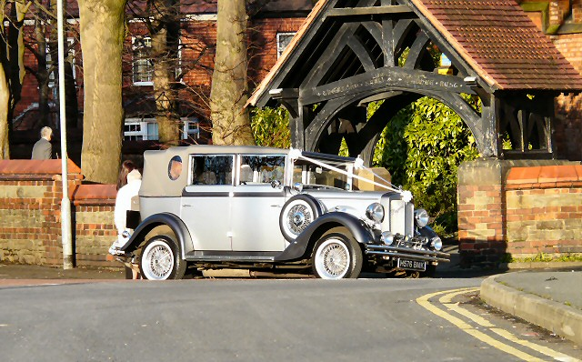Wedding car at St Anne's
