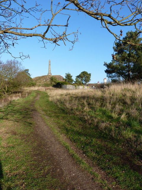 Footpath up to the Sutherland Monument on Lilleshall Hill
