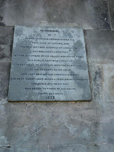 Duke of Sutherland memorial