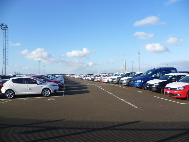 Imported cars at Sheerness Docks