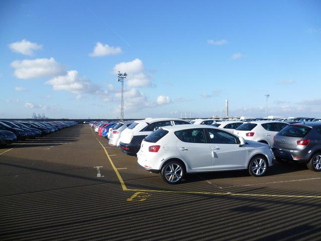 New cars at Sheerness Docks