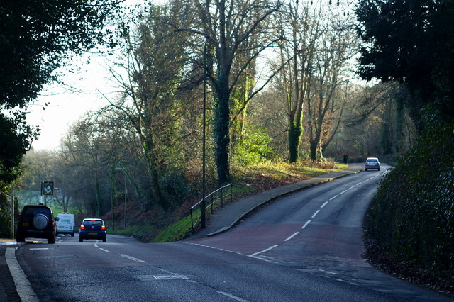 Road Junction on Redhill Common, Surrey