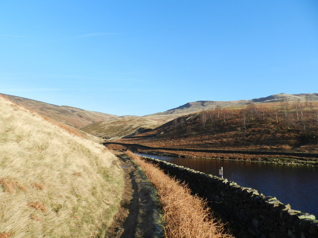 Approaching the northern arm of the Kinder Reservoir