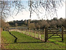 TM2863 : Footpath to the Mere, Framlingham by Evelyn Simak