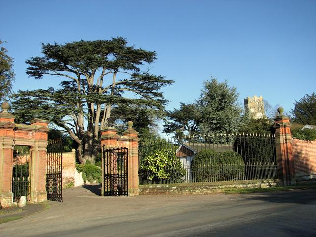 Original entrance gates to Easton Manor house, Easton