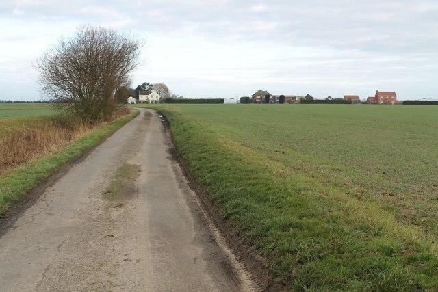 Clover Lane facing north