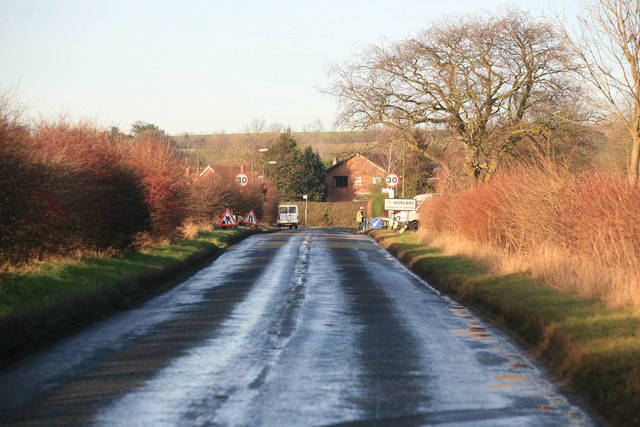 Worlaby village ahead