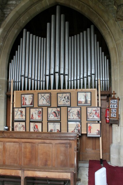 Organ in Ss Peter & Paul church, Wigtoft