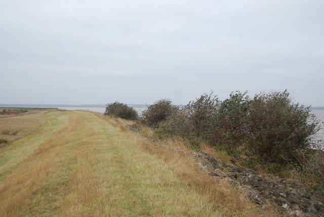 Sea wall looking west